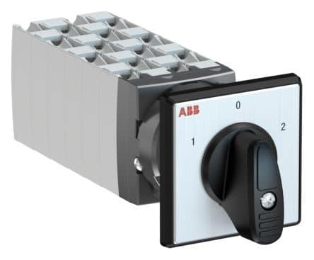 ABB, 6PST 3 Position 60° Rotary Switch, 400 V, 25 A, Handle Actuator